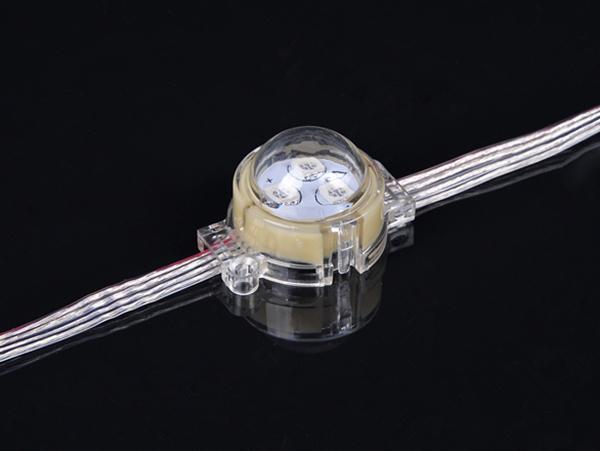 LED点光源(3公分3灯RGB透明罩子外壳)